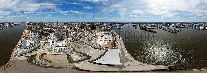 Luftbild Panorama Hamburg