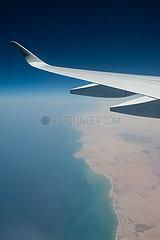 Oman  Flug mit Qatar Airways von Singapur nach Doha