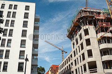 Berlin  Deutschland  Neubau und Baustelle am Rummelsburger Platz in Friedrichshain