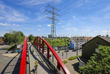 Fahrradautobahn  Radschnellweg Ruhr RS1  Essen  Ruhrgebiet  Deutschland