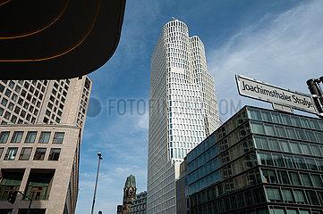Berlin  Deutschland  Upper West Gebaeudekomplex und Waldorf Astoria Hotel