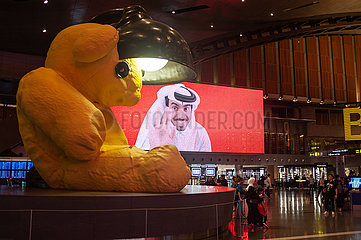 Doha  Katar  Innenaufnahme des Hamad International Airport
