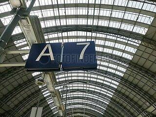 Gleis 7 in Frankfurt Hbf