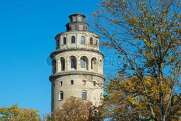 Koenigs Wusterhausen  Deutschland  Der Niederlehmer Wasserturm am Berliner Autobahnring A10