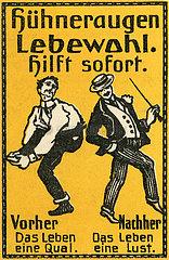 Werbung fuer Huehneraugenpflaster  1913