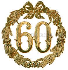 60 Jubilaeum  Dekoration  um 1959