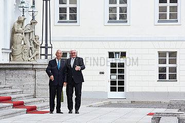 Berlin  Deutschland - Bundespraesident Frank-Walter Steinmeier und Marcelo Rebelo de Sousa  Staatspraesident Portugals.