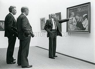 Helmut Schmidt  Hans Apel  Berlin  1984
