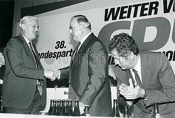 Helmut Kohl  Uwe Barschel  Gerhard Stoltenberg  CDU-Parteitag  1985