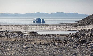 Ein Gletscher im Sirmilik Nationalpark