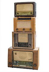 alte Roehrenradios  1948 bis 1955