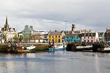 Schottland: Hafen Stornoway (Isle of Lewis)