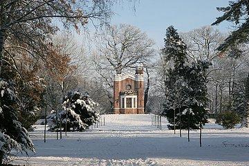 Luisium im Winter
