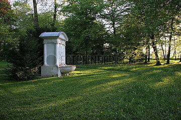 Detail im Luisium - der Pegasus- Brunnen