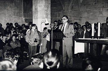 6. November 1989  Erfurt  Predigerkirche  Vollversammlung Neues Forum