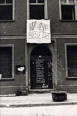 Maerz 1990  Berlin  Mainzer Strasse