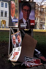 Oktober 1990  Weimar  Thueringer Landtagswahl