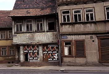Oktober 1991  Erfurt  Staedtezerfall