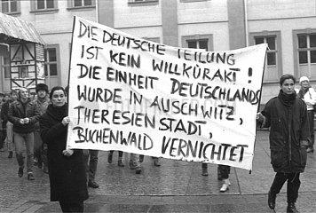 9. Dezember 1989  Weimar  Demonstration gegen die deutsche Wiedervereinigung