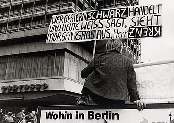 Berlin  4. November 1989  Demonstration  Grosskundgebung