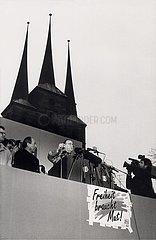 28. Februar 1990  Erfurt  erste freie Volkskammerwahl