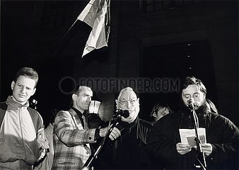 19. Dezember 1989  Berlin  Anti- Kohl- Demonstration