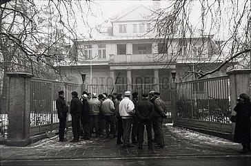Erfurt  4.12.1989  erste Stasi- Besetzung in der DDR