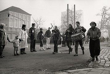 10. Dezember 1989  Erfurt  Demonstration zum Erhalt der Erfurter Altstadt