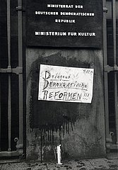 4. November 1989  Berlin  Demonstration Grosskundgebung