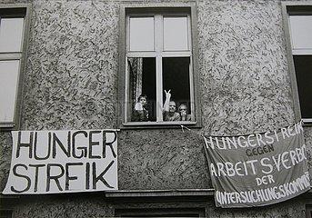 28. Maerz 1990  Erfurt  Hungerstreik der Buergerwache
