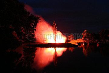 Vulkanausbruch im Woerlitzer Park