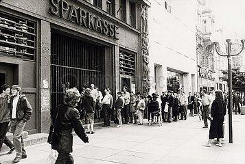 Mai 1990  Erfurt  vor der Waehrungsunion