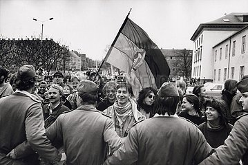 7. April 1991  Erfurt  Anti- Kohl- Demonstration