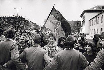 7. April 1991  Erfurt  Anti- Kohl- Demonstration
