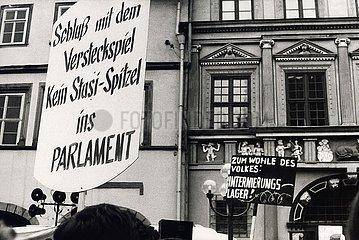 '29. Maerz 1990  Erfurt  Demonstration ''Stasi aus der Volkskammer'''
