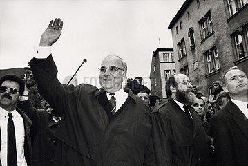 7. April 1991  Erfurt  Besuch von Bundeskanzler Helmut Kohl in Erfurt