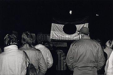 7. Dezember 1989  Erfurt  Demonstration zur Stasi- Besetzung