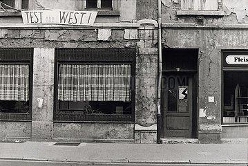 28. Mai 1990  Weimar  Staedtezerfall 28. Mai 1990  Weimar  Staedtezerfall