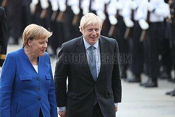 Boris Johnson und Angela Merkel am 21.08.2019