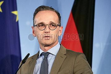 Berlin  Deutschland - Bundesaussenminister Heiko Maas.