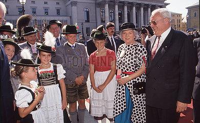 Bundespraesident Roman Herzog und Frau Christiane  1994