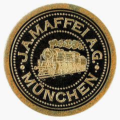 J..A. Maffei A.G.  Muenchen  historische Siegelmarke  1910