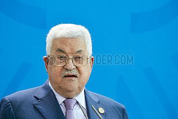 Berlin  Deutschland - Mahmoud Abbas  der Praesident der Palaestinensischen Autonomiebehoerde.
