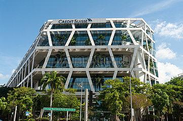 Singapur  Republik Singapur  Bankgebaeude der Credit Suisse am Changi Business Park