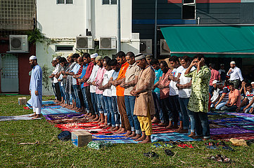 Singapur  Republik Singapur  Muslime beten in Little India