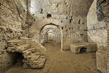 U-Bahn-römische Ruinen  San Lorenzo Maggiore  Neapel  Kampanien  Italien