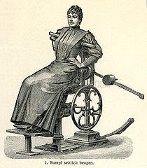 Frau bei Heilgymnastik  1910