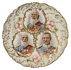 Bayerisches Koenigshaus  Portraets  Porzellanteller  1913