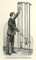 Mann bei Heilgymnastik  1910