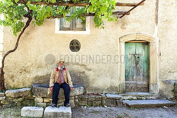 The only resident of Old Roscigno  a small town abandoned since the early 20th century  Cilento  Southern Italy